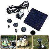 Hot Sale! Hongxin Solar Fountain 1.2W 7V Solar Powered Panel Water Pump Fountain Kit Pool Garden Pond Submersible Creative Home Garden Outdoor Decor