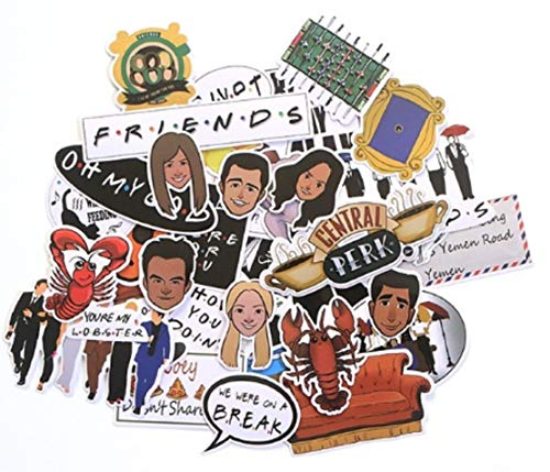 Sticker Pack Friends - Friends Themed Decal Stickers Assorted Lot of 33 Pieces