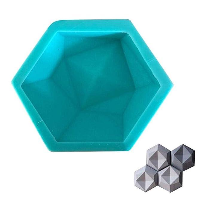 3D-Geometrische Hexagon Handwerk Silikon Form Beton Formen DIY TV Hintergrund Dekoration Ton Ziegel Basteln Form für Wand Ste