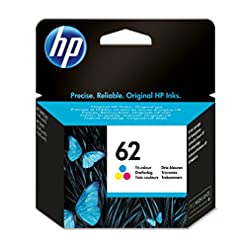 HP C2P06AE 62 Original Ink Cartridge, Tri-Colour, Single Pack