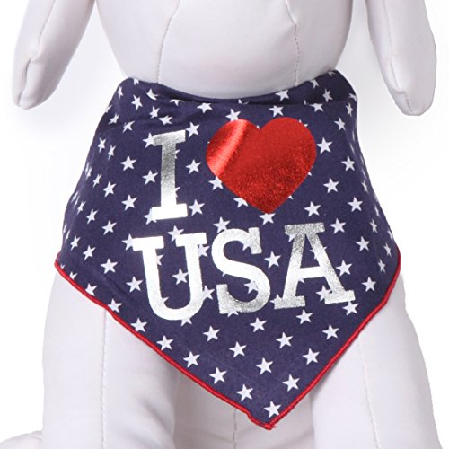 Tail Trends Independence Day 4th July I Star USA Dog Bandana - 100% Cotton]()