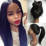 PlatinumHair Synthetic Lace Front Wig Black Soft Straight...
