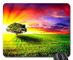 Alone In Sunset Mouse Pad, Mousepad (Sunsets Mouse Pad) by mcsharks