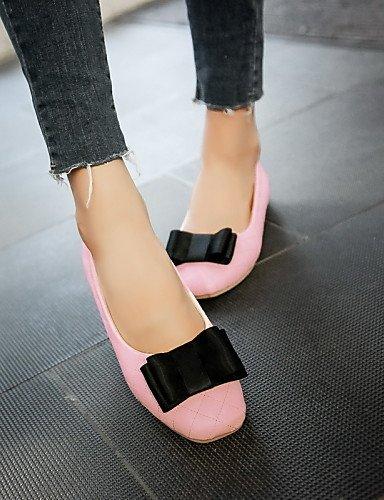 PDX redonda de Beige 5 punta Casual us7 mujer talón plano 5 rosa uk5 eu38 negro de blanco Flats cn38 zapatos black B0qfBr
