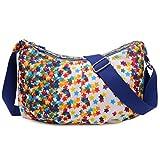 Sports Outdoors Kids Best Deals - TianHengYi Women's Simple Style Dumpling Shape Nylon Cross-body Shoulder Bag Lightweight Messenger Bag Stars