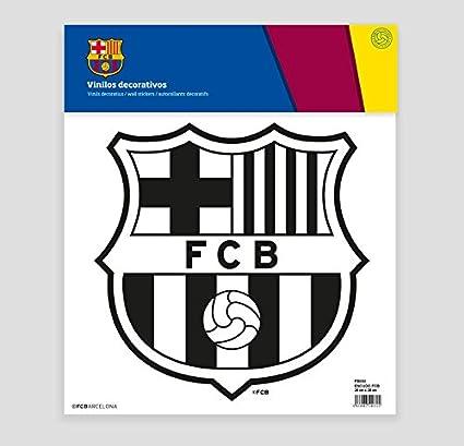 FCB FC Barcelona Escudo Adhesivo, Vinilo, Negro, 30.00x30.00x32.00 cm: Amazon.es: Hogar