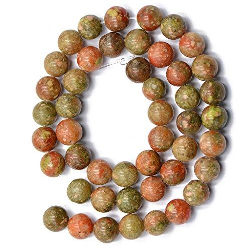 Jili Online 4mm 8mm Round Autumn Jasper Beads Strand 15