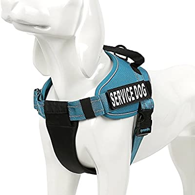 "Service Dog Vest Harness - Chai's Choice Best with 2 Reflective ""Service Dog"" Patches and Sturdy Handle. Matching Chai's Choice Padded 3M Reflective Leash Available. Please see Sizing Chart at left."