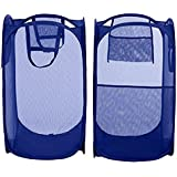 Blumfye Set of 2 Polyester Big Size Mesh/Net Laundry Basket, Multicolour