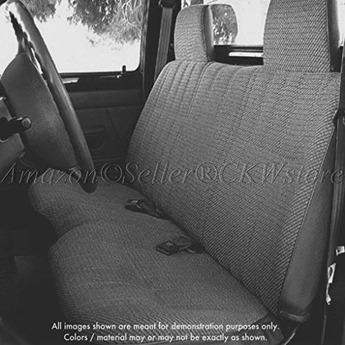 Solid Bench A25 Seat Covers Triple Stitched 10mm Padding Molded Headrests Seat Belt Cutout Small 2