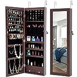 BELUPAID 6 LEDs Mirror Jewelry Cabinet, Stylish