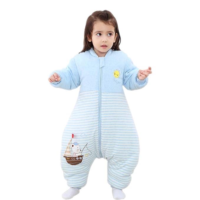 KINDOYO Saco De Dormir Usable para Bebé - Cálido Anti-Patada Ropa De Dormir Mangas Extraíbles Cómodo Suave Unisexo Saco De Dormir para Niños: Amazon.es: ...