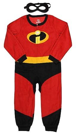 Disney Pixar Incredibles 2 Unisex Kids Union Suit Pajama with Mask (4 5) 70bc4ca53