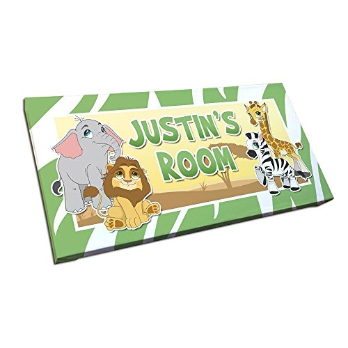 Sign for Nursery or Kids Room with Personalized Name and Custom Colors ()