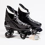 Ventro Pro Turbo Quad Roller Skates - Black & White - Customized By Oli's