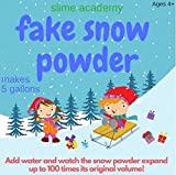 Slime Academy Instant Snow Makes 5 Gallons of Fake Snow Instant Snow Powder Just Add Water Instant Snow Makes 5 Gallons of Instant Snow