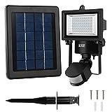 Security Light, LTE 60 LED Solar Motion Sensor Light,6000K, IP65,300lumen, ...