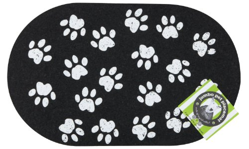 ORE Pet Recycled Rubber Jumbo Paws (Recycled Rubber Pet Placemat)