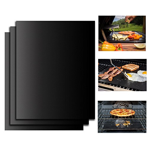 BBQ Grill Mats-Set of 3 Moon Lence Non-stick Baking Mats Oven Liners for Uses in Home Baking/Garden BBQ (Under Cupboard Toaster Oven compare prices)