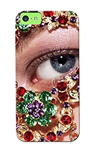 High Quality Resignmjwj Girls Eyes With Jewelry Skin Case Cover Specially Designed For Iphone - 5c