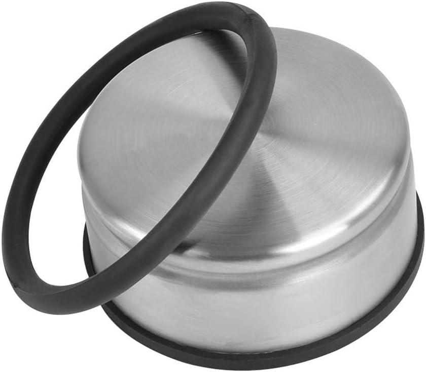 Door Stopper Heavy Duty 2PCS Stainless Steel Door Stop Mute Metal Door Stopper Bumper with Rubber Buffer Ring