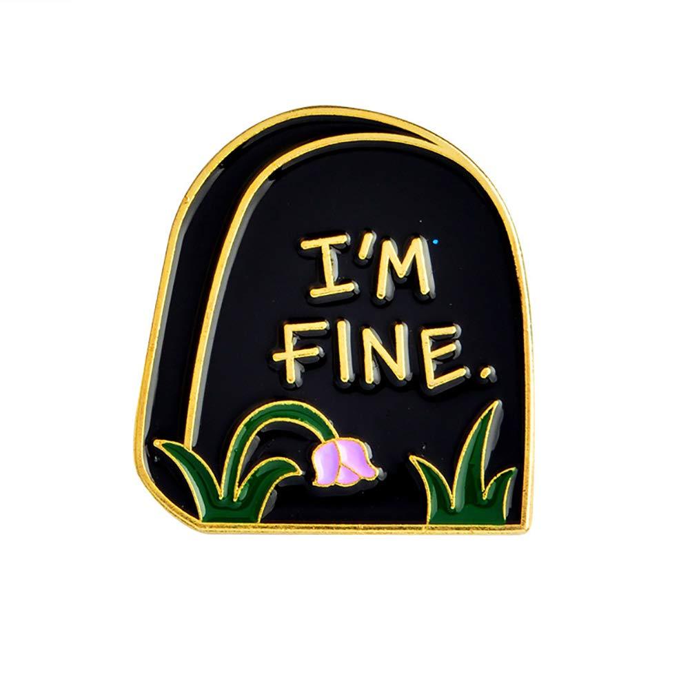 Housesweet Dessin anim/é T/ête de mort Femme Homme Collier Broche Pin en /émail Button badge Pins Accessoire de costume cr/âne