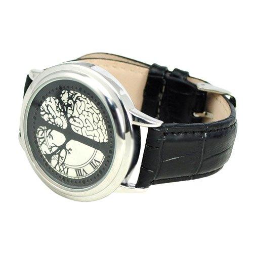 Gleader 60 LED electrónico reloj de pulsera, reloj Digital con un diseño fuera de lo común y de piel de color negro: Amazon.es: Relojes
