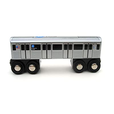 Munipals MP01-110C Wooden Subway Train New York City MTA NYC C 8th Avenue Local: Toys & Games