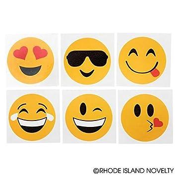 RINCO Emoji Temporary Tattoos 2 2 Oasis Supply JATATEM 144 Piece
