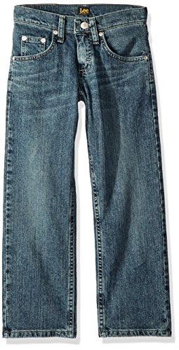 Lee Boys' Big Premium Select Regular Fit Straight Leg Jean, Dalton Hand Sand, 10 Regular