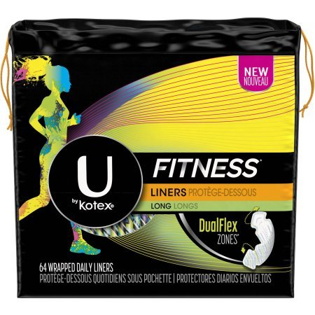 Amazon.com: PACK OF 8 - U by Kotex Fitness Panty Liners, Light Absorbency, Long, Unscented, 64 Count: Health & Personal Care
