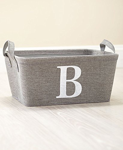 The Lakeside Collection Monogram Storage Bin- B by The Lakeside Collection