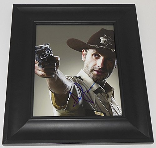 The Walking Dead Rick Grimes Andrew Lincoln Signed Autographed 8x10 Glossy Photo Gallery Framed Loa (8x10 Photo Framed Signed)