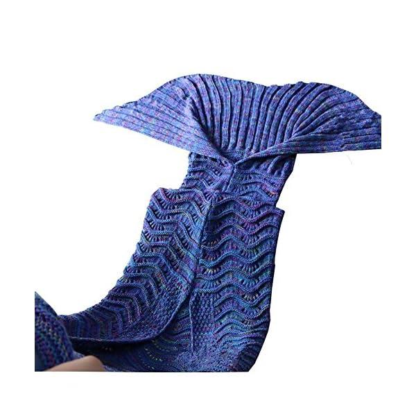 Fu-Store-Mermaid-Tail-Blanket-Crochet-Mermaid-Blanket-for-Adult-Kids-Super-Soft-All-Seasons-Sofa-Sleeping-Blanket-Cool-Birthday-Wedding-Christmas