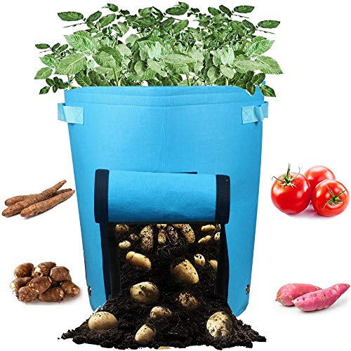 Casolly 10 Gallon Potato Grow Bags for Garden Planting with Sturdy Handles - Blue,2 Pack by Casolly