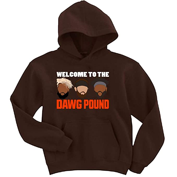 new product 8ed89 da5f4 Amazon.com: Brown Mayfield Beckham Landry Dawg Pound Hooded ...