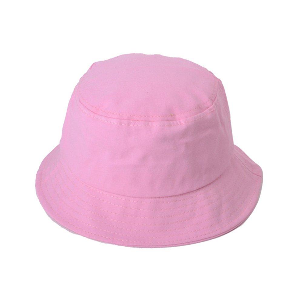 AJON Unisex Herren Damen Sonnenhut UV-Schutz Eimer Hut Baumwolle Briefe Drucken Anglerhut