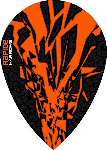 10 x Sets Harrows Rapide X Orange Dart Flights Pear by PerfectDarts