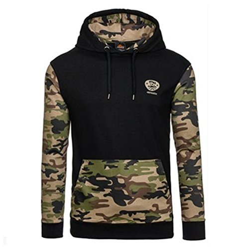 [ARCQ Hoodies Spring 2017 Men Sportwear Pullovers Comfortable Casual Hip hop Sweatshirt Plus Size black army] (Morph Suite)