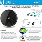 Ubiquiti Networks IS-5AC 5GHz 802.11ac IsoStation CPE 14dBi Radio with Isolation Antenna