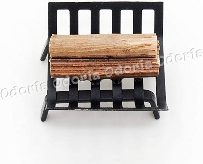 1:12 Dollhouse Metal Log Rack Firewood Holder Wood Storage Outdoor Miniature BLK