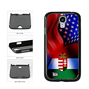 Hungary and USA Mixed Flag Plastic Phone Case Back Cover Samsung Galaxy S4 I9500