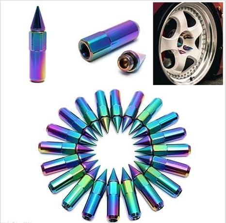 20 pcs 60 mm M12 x 1,5 con clavos en aluminio cromado Lug Tuercas Extended sintonizador ruedas/llantas: Amazon.es: Coche y moto
