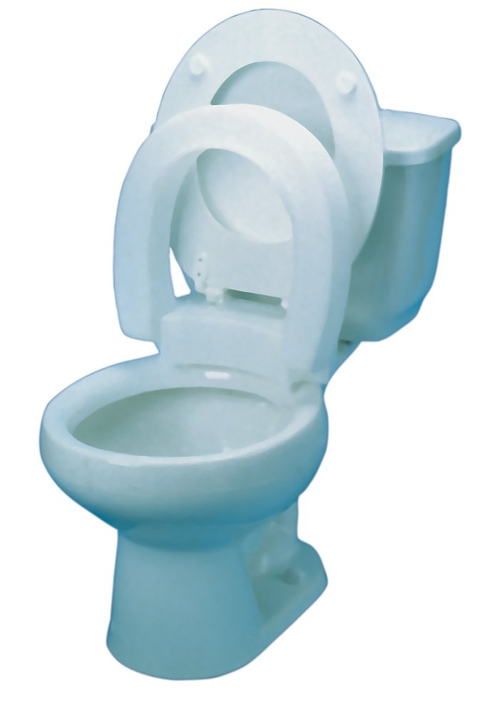 ALIMED 80595 Hinged Elevated Toilet Seat Elongated