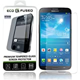 Eco-Fused Premium Tempered Glass Screen Protector for Samsung Galaxy S4 – Glass Screen Protectors with Oleophobic Coating – Anti Fingerprint and Anti Scratch – Perfect Clarity and Touch