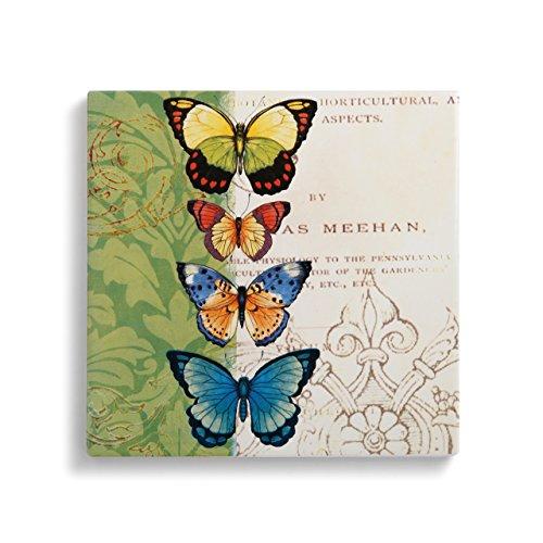 DEMDACO Butterflies Trivet with Cork Conversion Chart ()