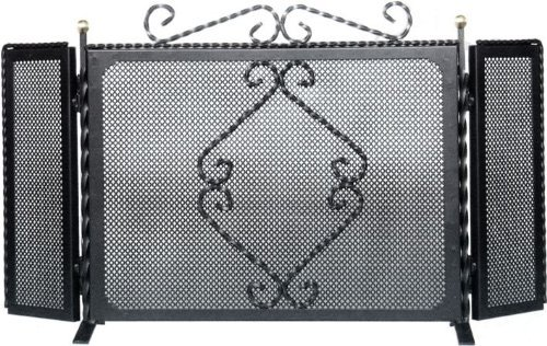 Parascintille in Ferro Battuto mod. Treccia 3 Ante 95X50Cm (64.B) OEM