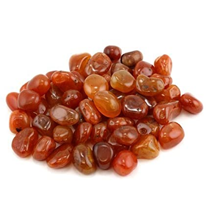 Crystal Allies Materials: 1lb Bulk Tumbled Carnelian Stones from Brazil - Small 1/4-1/2 Polished Natural Crystals for Reiki Crystal Healing *Wholesale Lot*