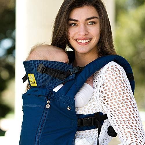 Indicato per TUTTE le stagioni LILLEbaby regolabile fino a SEI posizioni marsupio ergonomico per neonato /& bambino fino a 360/° Navy