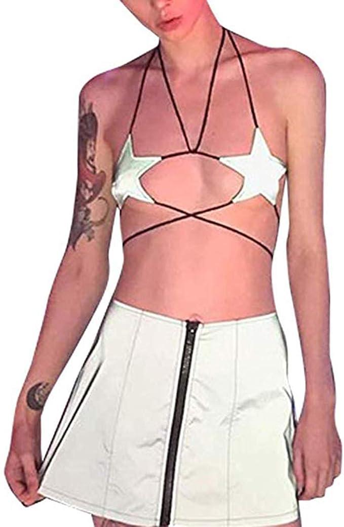 Flirty Festival Shirt Lingerie Party Gear Burner Top Bikini Top OOAK Crochet Top Concert Halter Top Unique Boho Summer Top Bralette